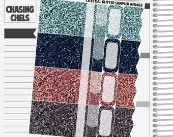 Celestial Collection #FK477-483 Premium Matte Planner Stickers