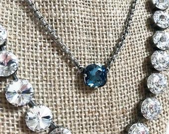 Swarovski Crystal Single Stone Necklace