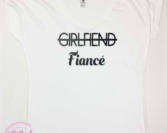 Girlfriend, Fiance, Bachelorette Party Tee, Bachelorette Party Shirt, Wedding Gift