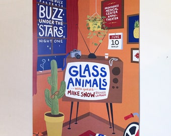 Glass Animals Buzz Under the Stars Concert Poster - Kansas City