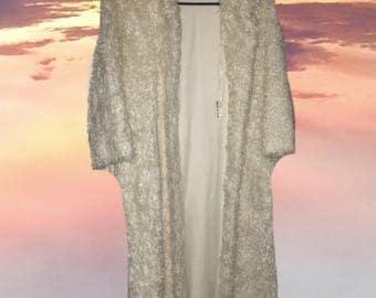 VTG: Full Length White Shag Coat