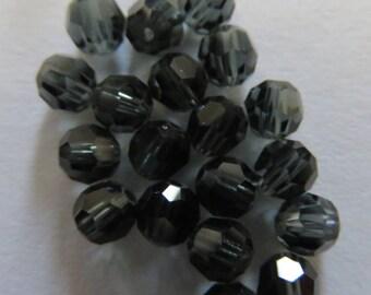 Round 4 mm Morion Swarovski pearls