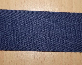 Navy blue cotton twill 30 mm