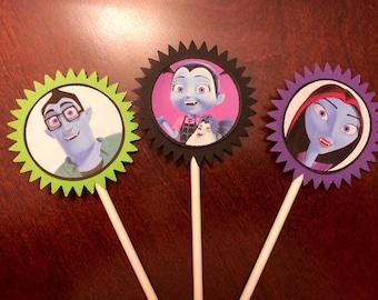Vampirina Cupcake Toppers, Vampirina Birthday