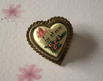 Toi et Moi French/brooch pin / brooch in celluloid/antiquityfrench