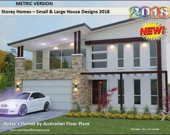 Distinctive 2 Storey Homes Designs - Two Storey House Design Book - Australian and International Home Plans On Sale Today !