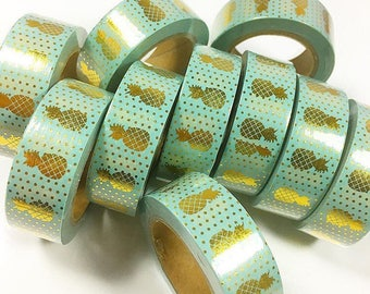 Foil Pineapple Washi Roll