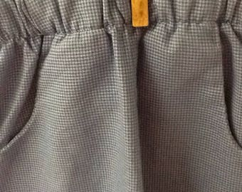 4T Tiny Blue and Gray Checked Pants