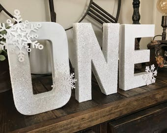 WInter ONEderland party decor , photo prop , snowflakes