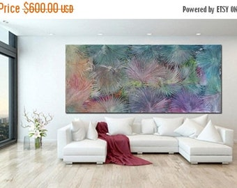 Extra Large Painting READY TO SHIP original Acrylic Painting colorful Extra Large Wall Art Abstract Nature extra Large Art Canvas  art