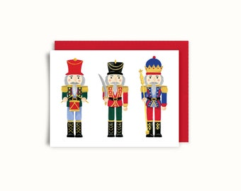 Greeting card - 3 Nutcrackers