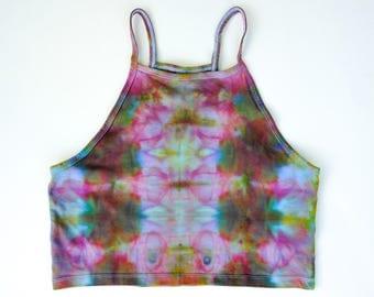 Ice-Dyed Women's Halter Tank, M