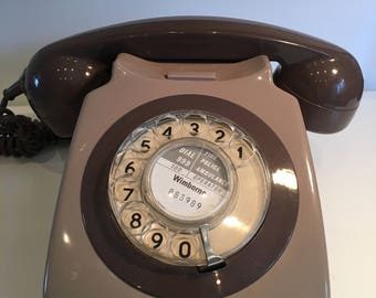 Beautiful vintage Rotary phone grey working condition