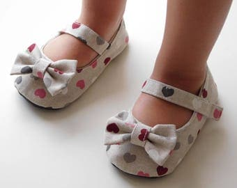 Baby Shoes Baby Slippers Baby Booties Ballet Shoes Mary Jane Shoes Crib Shoes Ballerina Shoes Baby Girl by Prewalker Shoes