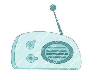 Vintage Radio DIGITAL File.  Instant Download.  PNG, SVG, Studio Files.  No Physical Shipping