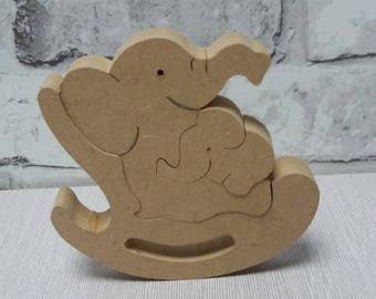Wooden Elephant,baby and mother,elephant and baby,mother and baby elephant,elephant rocking,nursery decoration