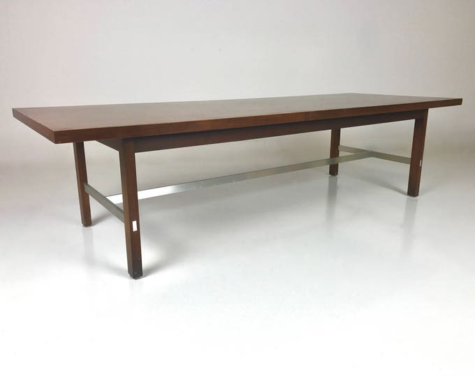 Mid Century Modern PAUL MCCOBB for Calvin Walnut and Chrome Coffee Table