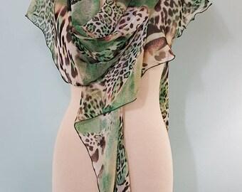 The Shawlrapp, chiffon Scarves, Unique Scarves, Wraps, Long Scarves, Elegant Scarves, Shawls