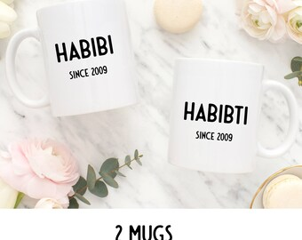 "2 MUGS ""DUO SINCE... to customize"" / Nadja love"