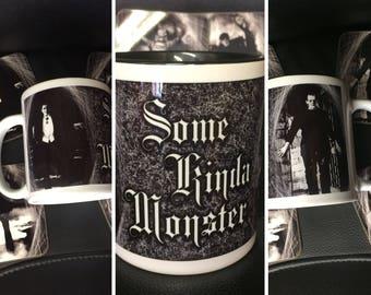 Classic Horror Ceramic Mug - Dracula, Frankenstein Monster - Some Kinda Monster - Horror Legends