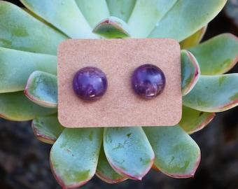 Amethyst studs Amethyst earrings Amethyst Jewelry Amethyst Earrings Amethyst Posts Amethyst Gemstone earrings Gemstone Jewelry Crystal studs