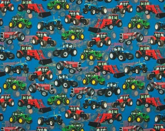 Tractors Digital Cotton Lycra Jersey Knit Fabric