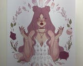 Witchcraft By Lavender Art Print