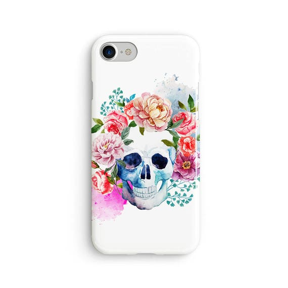 Watercolor candy skull  iPhone X case - iPhone 8 case - Samsung Galaxy S8 case - iPhone 7 case - Tough case 1P032