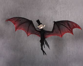 Ooak halloween hanging vampire horror doll