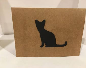 5 Adorable Cat Cards- Handmade
