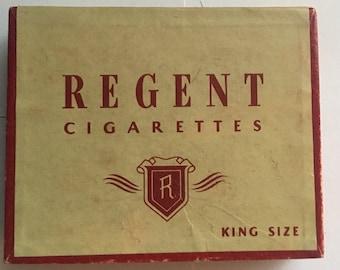 Vintage Regent Cigarette Box