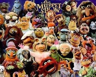 Jim Henson The Muppet Show Full Cast Sesame Street  Rare Vintage Poster