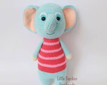 PATTERN- Elephant - Crochet pattern, pdf