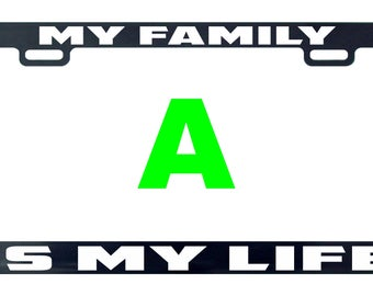 My family is my life license plate frame tag holder decal sticker