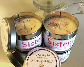 Sister Handpoured organic soy wax tin candle