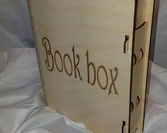 Wood book box, can be customized!