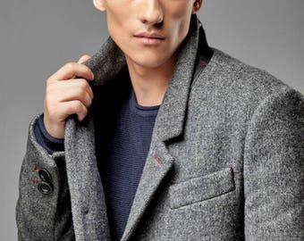Men's coat, mens coat wool, wool coat men, tweed jacket men, man coat, coat for man, overcoat men, mens wool overcoat, frock coat men.