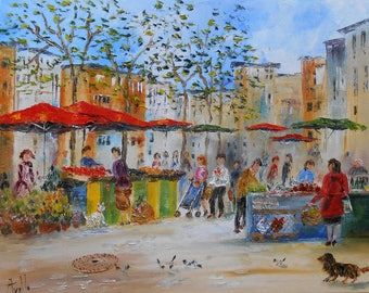 "Painting ""market in Toulouse"""