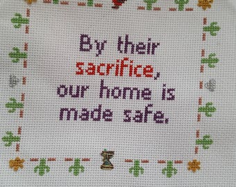 By their sacrifice, our home is made safe