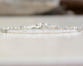 Freshwater Pearl Bracelet, June Birthstone, Pearl Birthstone, June Bracelet, Wedding Jewelry, Natural Genuine Pearl, Bridesmaids Bracelet