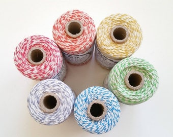 Baker's Twine / Jute Bundle, 100 yards, Choose Your Color, Bakers Twine, Pinterest, Crafting, 12 ply, Party, String, Gift, Rainbow, TX
