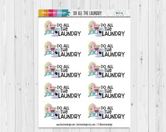 Do all the Laundry Mermaid Planner Stickers | 18072-04