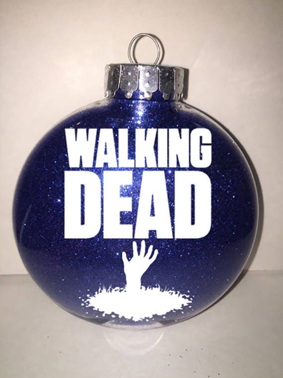 ONE OF A KIND Glitter Walking Dead Christmas Ornaments