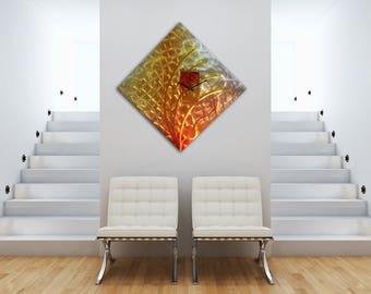 Abstract Metal Wall clock, Modern Wall Clock, Metal Wall Art, Abstract Wall Sculpture, Contemporary Art, Modern Home Decor, Office Decor,