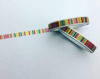 Skinny striped washi tape