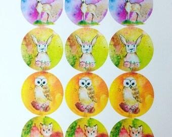 Autumn Adventure animal stickers