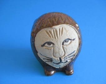 Japanese Pottery Money Bank in Style of Lisa Larson Lion
