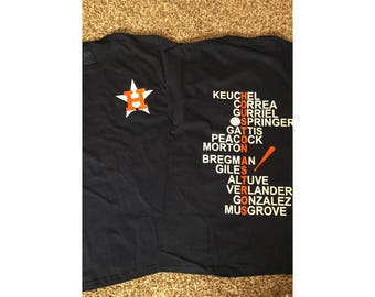 Houston Astros players crossword tshirt