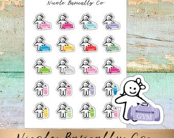 Cutie Pies- Gym Bags- Water Bottles- Planner Stickers