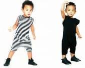 baby romper, toddler romper, toddler boy romper, baby girl romper, baby boy romper, solid romper, striped romper, BLACK or BLACK and WHITE
